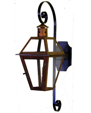 French Quarter Lantern on Premium S Full Scroll