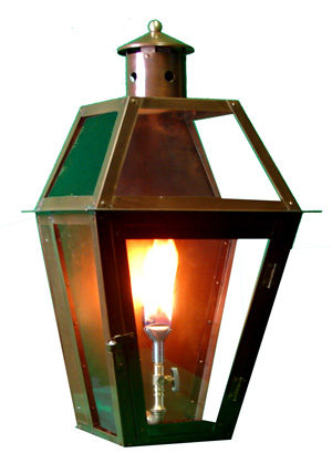 French Quarter Style Pro Series Flush Mount Lantern with FLO-GLO Stealth Igniter