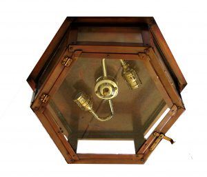 Six-sided Flush Mount Ceiling Light
