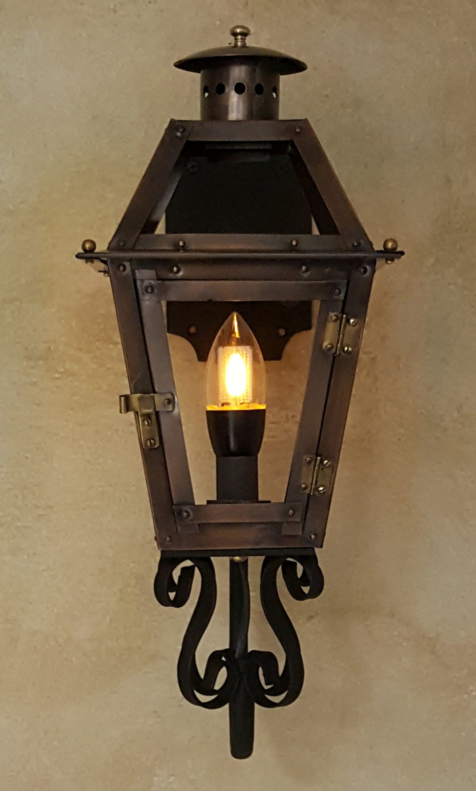 "12"" French Quarter Lantern with Candelabra Socket & Bracket (bulb not included)"