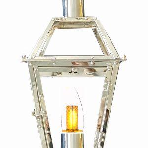 "Chrome plated 24"" French Quarter Lantern"