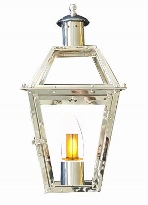 "Chrome plated 24"" French Quarter Lantern"