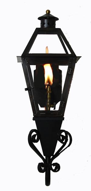 French Quarter Lantern on Stealth Gooseneck with Flo-Glo Igniter