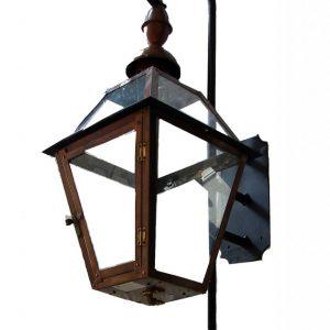 French Quarter Lantern with Church Top Finial - Mini Swan Bracket