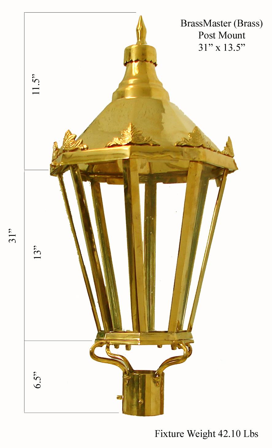 Windsor - Polished Brass (Post Mount)