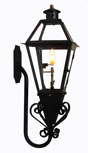 French Quarter Lantern on Stealth Gooseneck with Flo-Glo Igniter