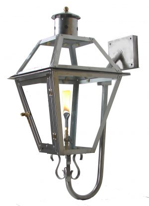 Stainless Steel French Quarter Lantern with PREMIUM Stainless Steel Gooseneck